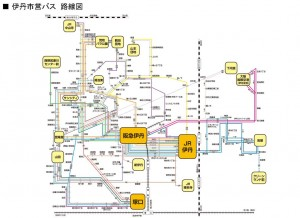 N 伊丹市営バス路線図