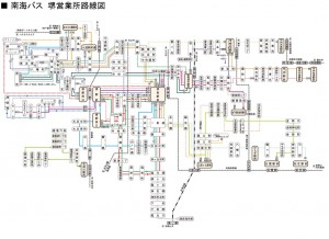 N 南海バス路線図