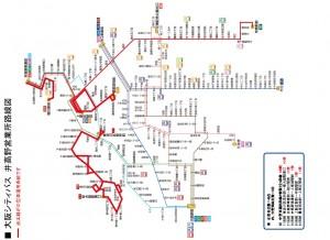 N 大阪シティバス路線図