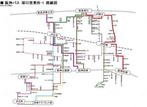 阪神バス路線図(尼崎エリア2)